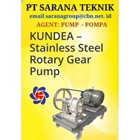 KUNDEA STAINLESS STEEL ROTARY GEAR PUMP POMPA