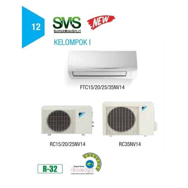 AC New Split 1 PK DAIKIN FTC 25 NV 14 RC 25 NV 14 THAILAND
