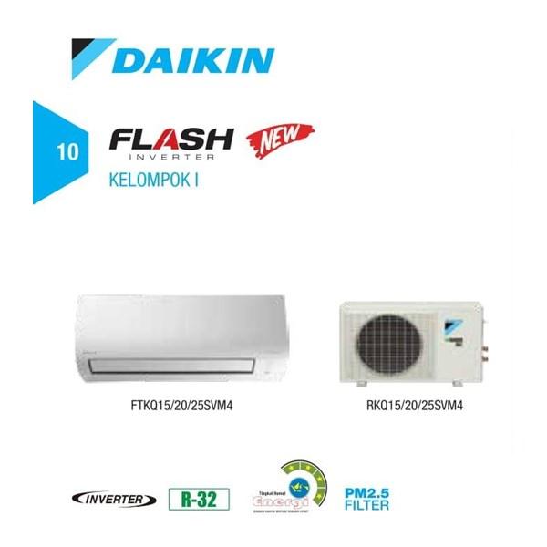 AC DAIKIN FLASH INVERTER FTKQ 20 SVM 4 + RKQ 20 SVM4 Cap. 0.75 PK