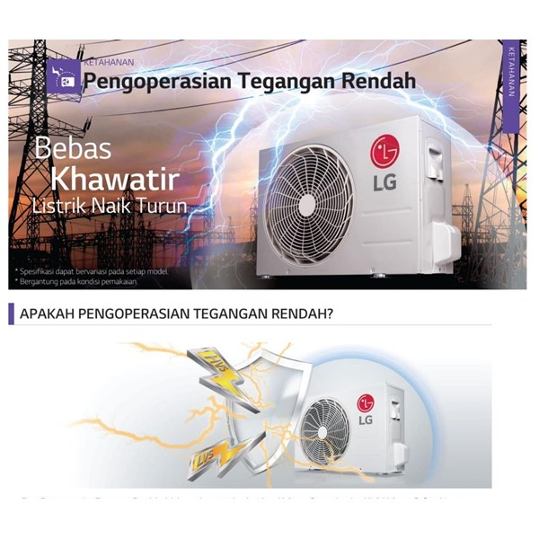 AC SPLIT WALL INVERTER LG T 06 EV4 Cap. 0.5 PK