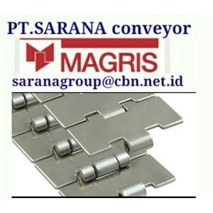 MAGRIS TABLETOP CHAIN PT SARANA CONVEYOR MAGRIS THERMOPLASTIC & STEEL