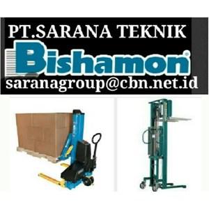 BISHAMON STACKER HAND PALLET STACKER PT. SARANA TEKNIIK BISHAMON HAND PALLET STOCKIST