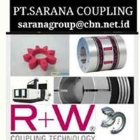 R+W RW COUPLING METAL BELLOWS COUPLING PT SARANA COUPLING FLEXIBLE SHAFT TORQUE LIMITER RW 1