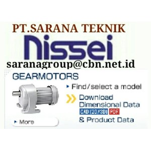 PT SARANA NISSEI GEAR MOTOR GTR GEARBOX NISSEI GEAR MOTOR GTR INDONESIA
