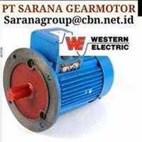 WESTERN ELECTRIC MOTOR PT SARANA GEARMOTOR WESTERN MOTOR AC 3 PH