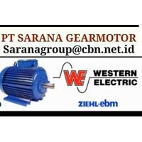 WESTERN ELECTRIC MOTOR PT SARANA GEARMOTOR WESTERN MOTOR AC 3 PH FLANGE