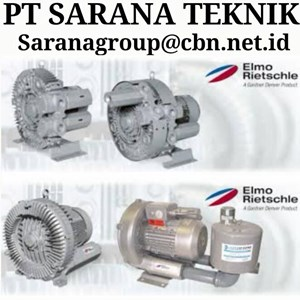 ELMO RIETSCHLE BLOWER PT SARANA TEKNIK GEAR MOTOR SIDE CHANNEL