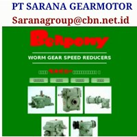 Jual SINGLE STAGE WORM GEAR BELLPONY SPEED REDUCER TYPE PA PT SARANA GEAR MOTOR 2
