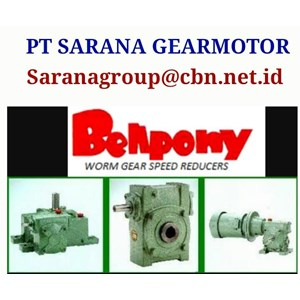 SINGLE STAGE WORM GEAR BELLPONY SPEED REDUCER TYPE PA PT SARANA GEAR MOTOR