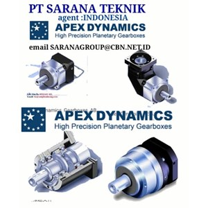 HIGH PRECISION APEX DYNAMICS planetary gearboxes  PT SARANA TEKNIK MOTOR