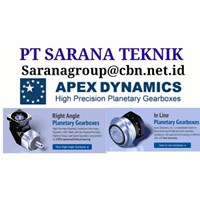 PT SARANA TEKNIK HIGH PRECISION APEX DYNAMICS planetary gearboxes