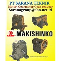 MAKISHINKO GEARMOTOR REDUCER GEARBOX PT SARANA TEKNIK GEAR MOTOR