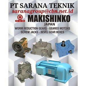MAKISHINKO WORM GEAR HELICAL GEARBOX BEVEL PT SARANA TEKNIK