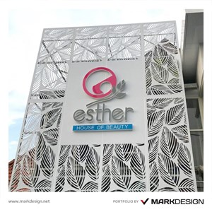 Signage Esther House of Beauty By Mark Design Surabaya Jakarta
