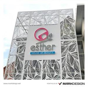 Signage Esther House of Beauty By UD Mark Design Surabaya Jakarta