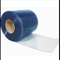 PVC Strip Curtain Blue Clear