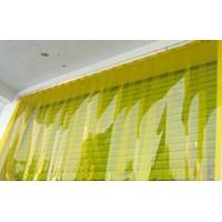 Jual tirai Plastik pvc Curtain kuning( yelow)