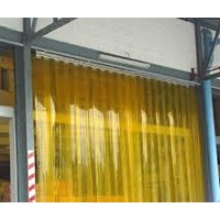 Tirai PVC curtain orange