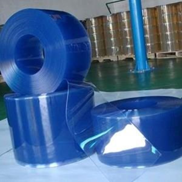 tirai plastik blue clear