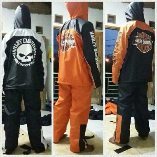 Mantel Hujan / Jas Hujan Rider Harley Davidson