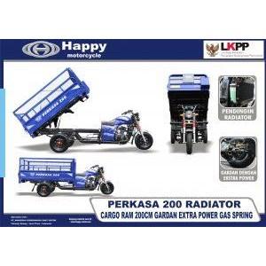 motor roda tiga perkasa 200 radiator happy motor