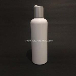 Botol Disctop 250ml Putih Tutup Aluminium Silver