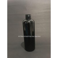 Botol PET 250 ml Hitam Solid Neck 24 Tanpa Tutup 1