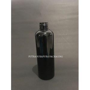 Botol PET 250 ml Hitam Solid Neck 24 Tanpa Tutup