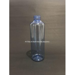 Botol PET 250 ml Biru Neck 24 Tanpa Tutup