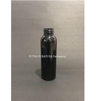 Botol PET 100 ml Neck 24 Hitam Tanpa Tutup 1
