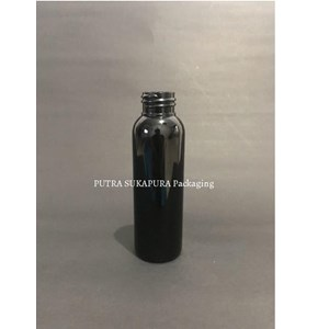 Botol PET 100 ml Neck 24 Hitam Tanpa Tutup