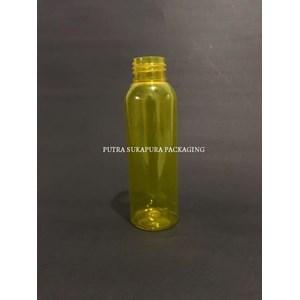 Botol PET 100 ml Neck 24 Kuning Tanpa Tutup