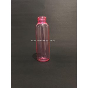 Botol PET 100 ml Neck 24 Pink Tanpa Tutup