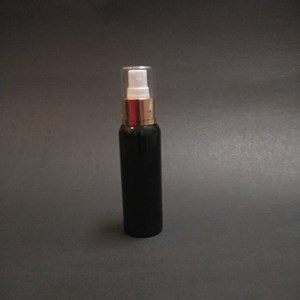 Botol Spray 100 ml Hitam Tutup Aluminium Gold