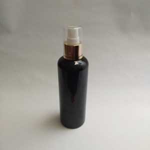 Botol Spray 250 ml Hitam Tutup Aluminium Gold