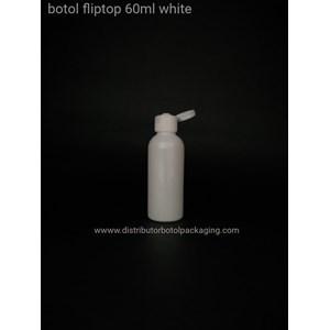 Botol Fliptop 60ml Warna Putih