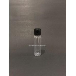 Botol Fliptop 27ml Natural Tutup Hitam