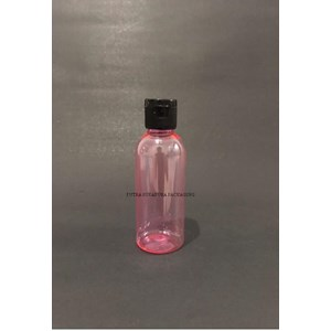 Botol Fliptop 60ml Botol Pink Tutup Hitam