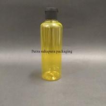 Botol Fliptop 250ml Botol  Kuning Tutup Hitam