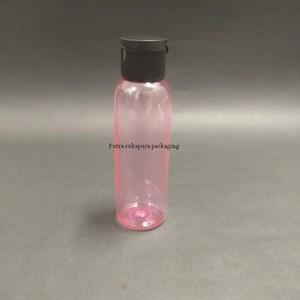Botol Fliptop 100ml Botol Pink Tutup Putih