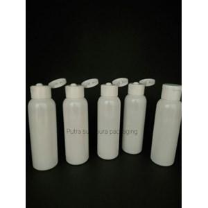 Botol Fliptop 100ml Warna Putih dan Tutup Putih