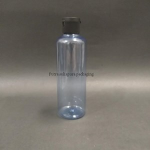 Botol Fliptop 250ml Biru Tutup Hitam