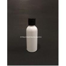 Botol Fliptop 60ml Putih Tutup Hitam