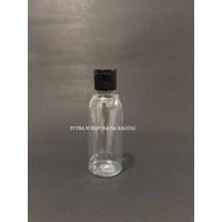 Botol Fliptop 60ml Natural Tutup Hitam