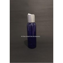 Botol Disctop 100 ml Violet Tutup Aluminium Silver