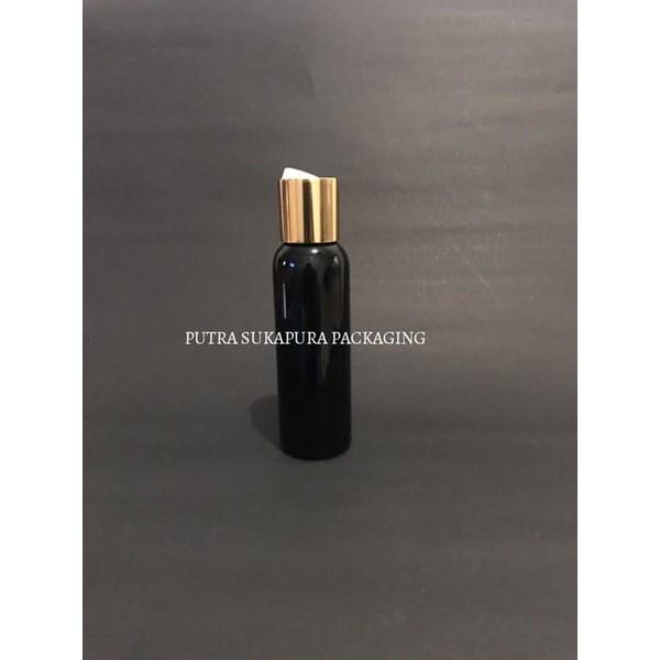 Botol Disctop 100 ml Hitam Tutup Aluminium Gold