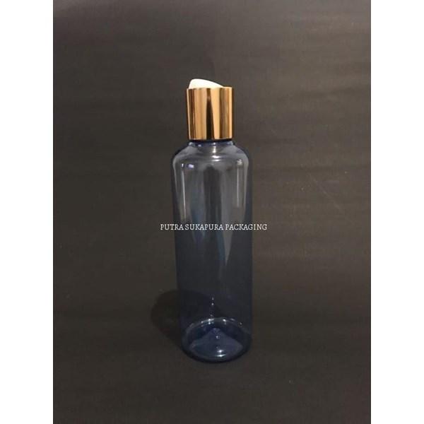 Botol Disctop 250 ml Biru Tutup Aluminium Gold