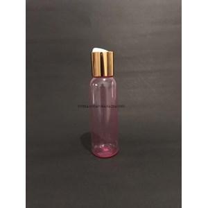 Botol Disctop 100 ml Pink Tutup Aluminium Gold