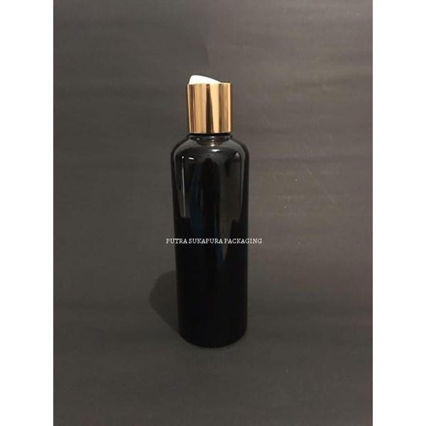 Botol Disctop 250 ml Hitam Tutup Aluminium Gold
