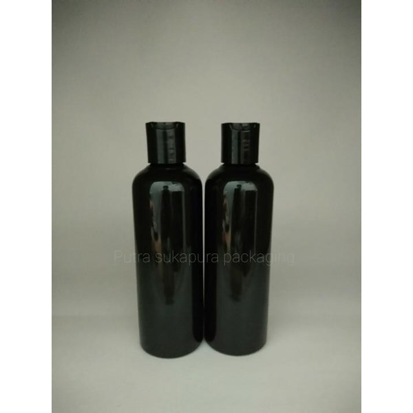Botol Disctop 250 ml Atau Botol Fress On Hitam Solid